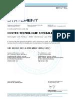 UNI en ISO 22716 2008 Coster Tecnologie Speciali