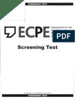 ECPE 2017 Screening Test