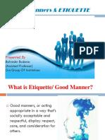 Basic Manners & Ettiquettes