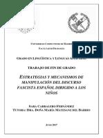 Estrategia y mecanismos de manipulación del discurso fascista español dirigido a los niños