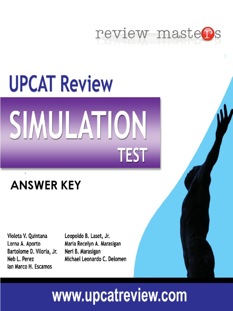 Upcat reviewer pdf with answer key 2020