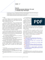 E1859E1859M-11e1 Standard Test Method for Friction Coefficient Measurements Between Tire and Pavement Using a Variable Slip Technique