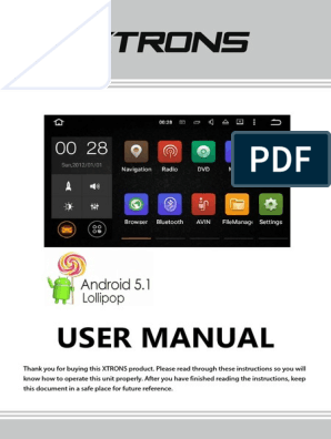 Android-5 1-Car-Stereo-User-Manual pdf | I Phone | Bluetooth