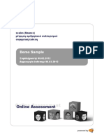 Sample Scales Numerical Report