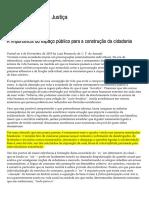 A Importância Do Espaço Público Para a Construção Da Cidadania _ Cidadania, Direito e Justiça
