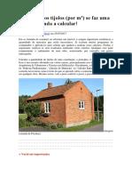 Com quantos tijolos (por m²) se faz uma casa? Aprenda a calcular!