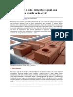 Saiba o que é solo-cimento e qual sua aplicação na construção civil
