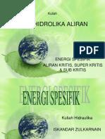 Aliran Kritis, Superkritis Dan Sub Kritis