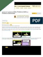 Guía de Pokémon Rubí, Pokémon Zafiro y Pokémon Esmeralda _ WikiDex _ FANDOM Powered by Wikia