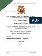 Teledeteccción Informe riesgos geologicos rio chillon