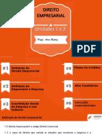 Web Unidades 1 e 2 Bloco I Direito Empresarial