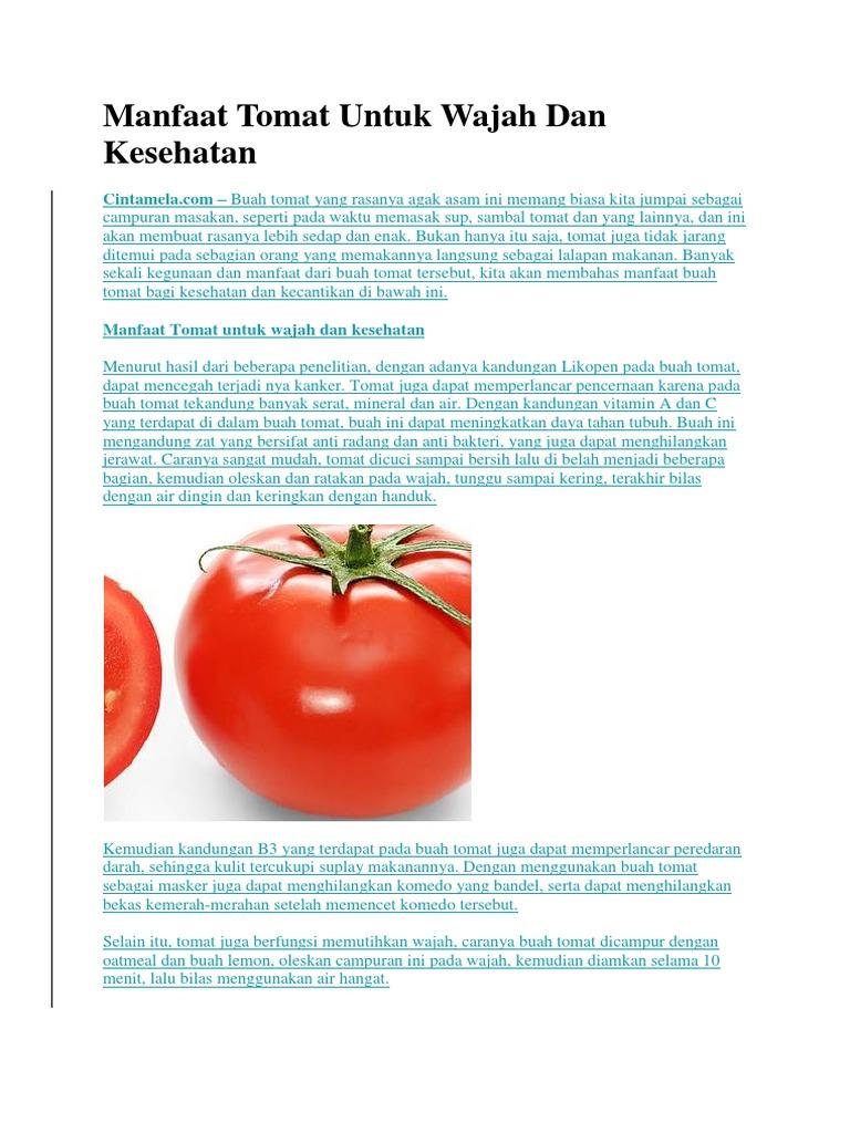Manfaat Tomat Untuk Wajah Dan Kesehatan