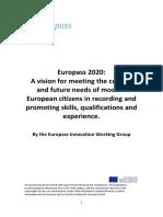 Europass 2020 Innovation Paper