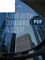A Brief on the Companies Act, 2017