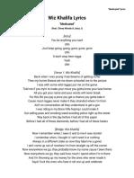 Wiz Khalifa Lyrics - Medicated.pdf