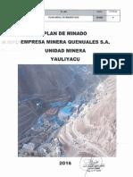 Plan Anual de Minado 2016