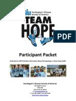 Team Hope Walk Participant Packet