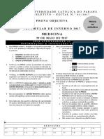 Gabarito Vestibular de Inverno 2017 Medicina Manha Amarela
