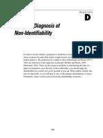 Appendix D Numeric Diagnosis of Non-Identifiability