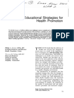 Creative Educational Strategies for Health Promotion