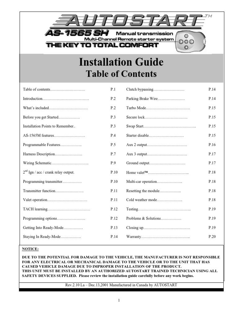 As 1565sh Ig En H100s100v210 011213 Clutch Ignition System Passlock Wiring Diagram Testing Procedure Test