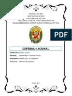Trabajo Defensa Nacional