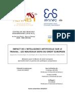 Mémoire - Impact de l'intelligence artificielle sur le travail