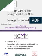 Health Care Access Design Challenge webinar