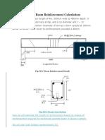 RCC Beam Reinforcement Calculation