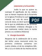 EL Nuevo Testamento y La Eucaristía-fichas