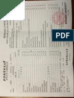 Graduate Transcript China