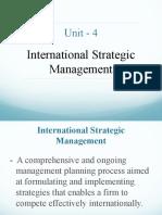 4 International Strategic Management A