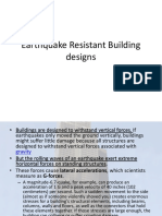 Earthquake Resistant Building Designs