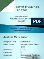 K01_ASTS_Pendahuluan & Pengertian Analisa Sistem