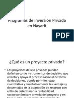 Programas de Inversión Privada en Nayarit