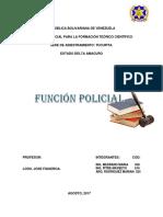 Fundamentos Teorícos y Legales de La Funcion Policial