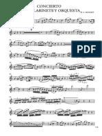 Concierto Para Clarinete de Mozart - Saxofón Contralto