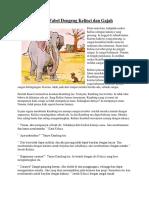 Cerita Fabel Dongeng Kelinci Dan Gajah
