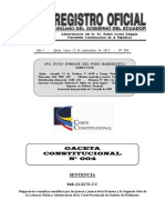 Gaceta Corte Constitucional No. 4