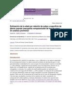 Estimación de La Edad Por Relación de Pulpa a Superficie de Diente Usando t