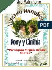 Celebracion Matrimonial Rony y Cinthia