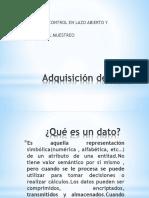 Adquision de datos