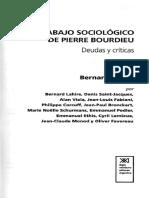 El Trabajo Sociologico de Pierre Bourdie