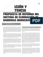Regulacion y Competencia Propuesta de Reforma en El Sistema de Ebb