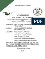 Gestion de Proyectos Informaticos Sistema de Venta via Web