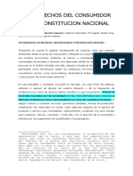 Los Derechos Del Consumidor en La Constitucion Nacional