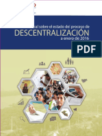 Informe Descentralizacion 2016. Usaid