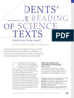 reading science texts