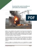 Sistemas de Protección Contra Incendios en Transformadores de Subestación