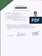 Hod Certificate